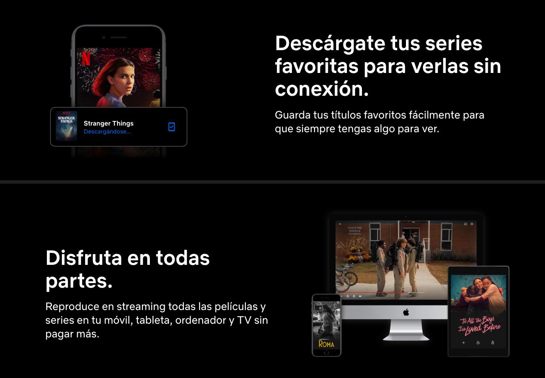 Ejemplo de Landing Page que intercala el orden de texto y contenido audiovisual.