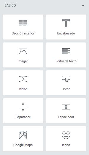 Widgets gratuitos de Elementor