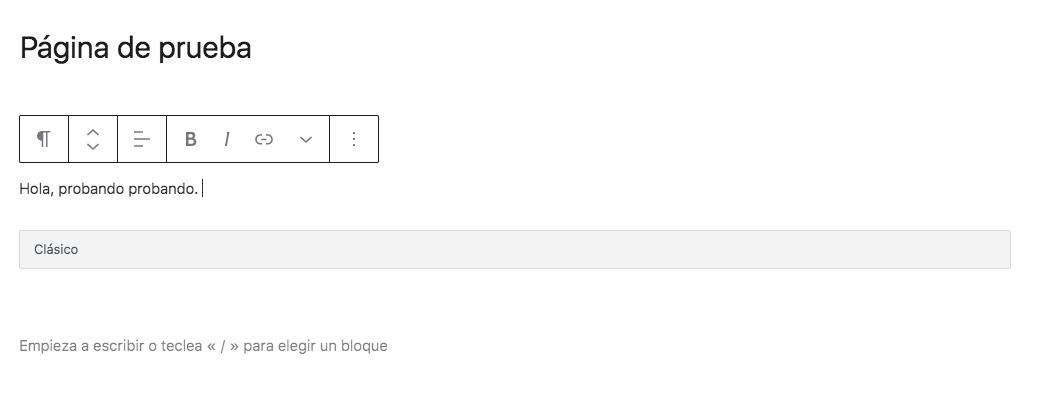Después de hacer click en solucionar tras desactivar Elementor