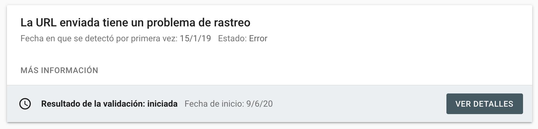 Problemas de Rastreo Google Search Console