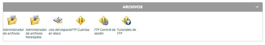 Apartado archivos en cPanel