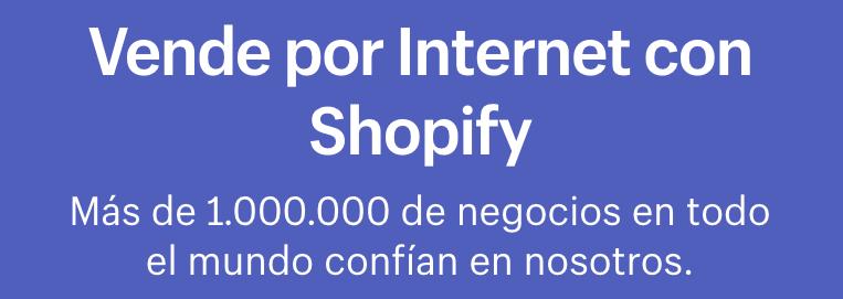 Ejemplo de título y subtítulo para una Landing Page: Shopify